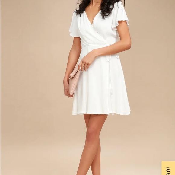 Lulu's Harbor Point White Wrap Dress